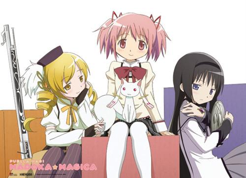 Madoka Magica Madoka, Mami, Akemi, and Kyubey Wall Scroll