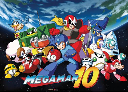 Mega Man Group 3 Wall Scroll