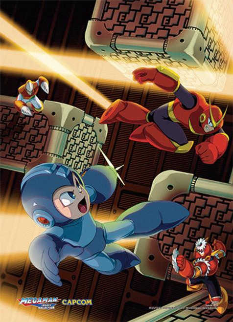 Mega Man Vs Villains Wall Scroll