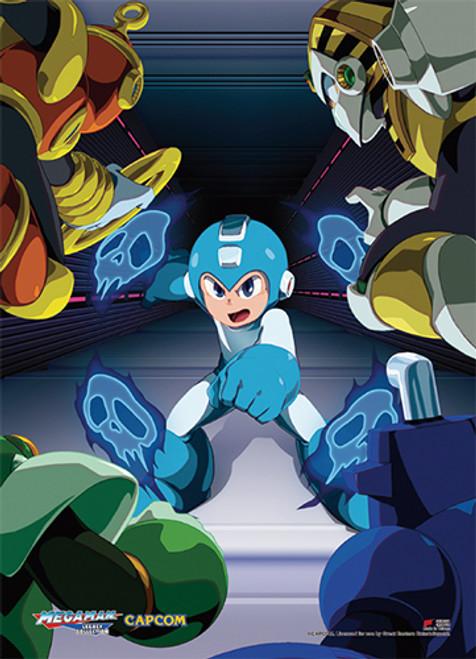 Mega Man Vs Four Villains Wall Scroll