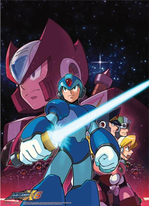Mega Man X Group Wall Scroll