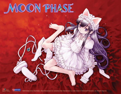 Moon Phase Hazuki In A White Dress Wall Scroll
