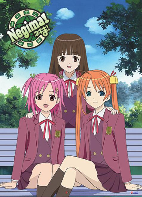 Negima! Asuna, Konoka, and Makie Wall Scroll