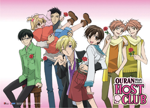 Ouran High School Host Club Club Members Relaxing Wall Scroll