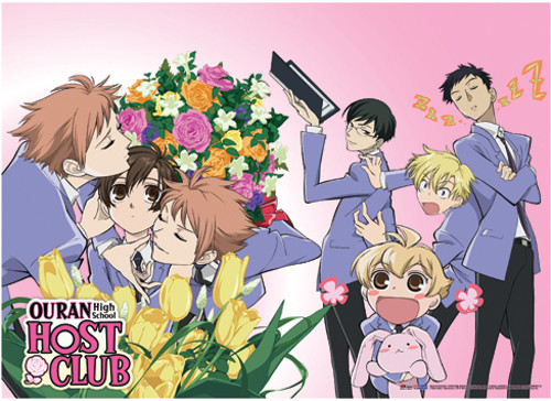 Ouran High School Host Club Haruhi, and Hitachiin Brothers Wall Scroll