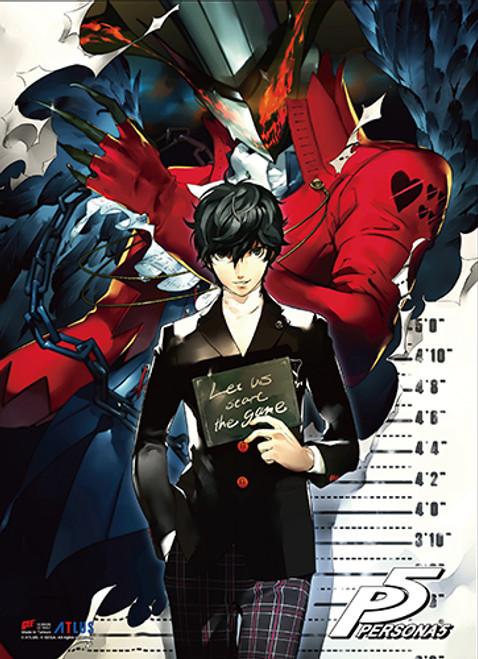 Persona 5 Protagonist Getting His Mug Shot Wall Scroll