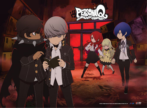 Persona Q Group Wall Scroll
