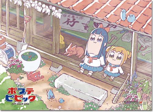 Pop Team Epic Pipimi, and Popuko Wall Scroll