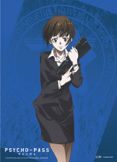 Psycho-Pass Akane, and Her Dominator Wall Scroll