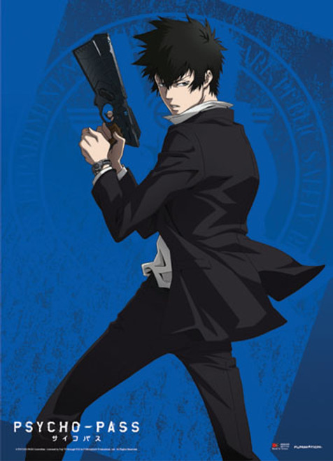 Psycho-Pass Shinya With His Dominator Wall Scroll