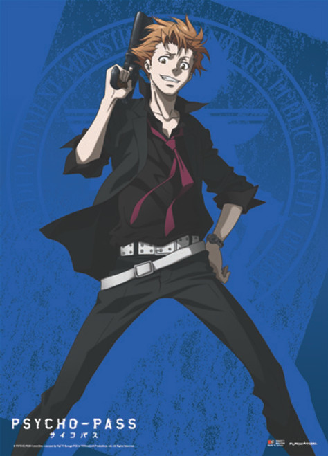 Psycho-Pass Shusei With His Dominator Wall Scroll