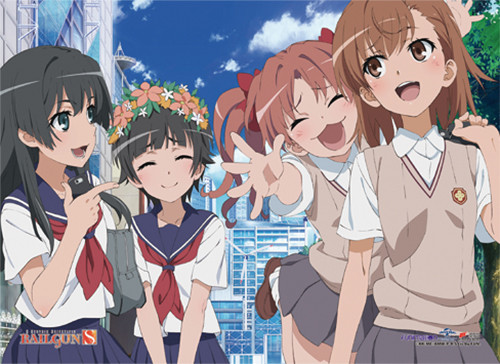 A Certain Scientific Railgun S - Mikasa And Her Friends Out In The Town Wall Scroll
