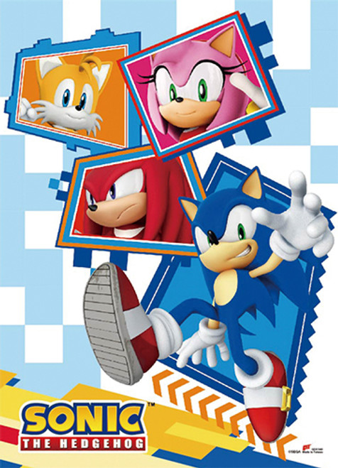 Sonic The Hedgehog Sonic, Tails, Knuckles, and Amy High End Wall Scroll