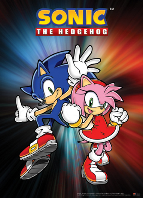Sonic The Hedgehog Sonic and Amy Wall Scroll