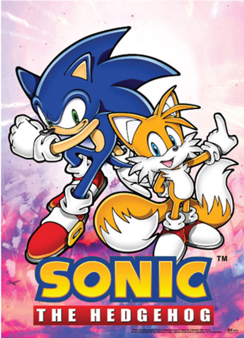 Sonic The Hedgehog Sonic and Tails Wall Scroll