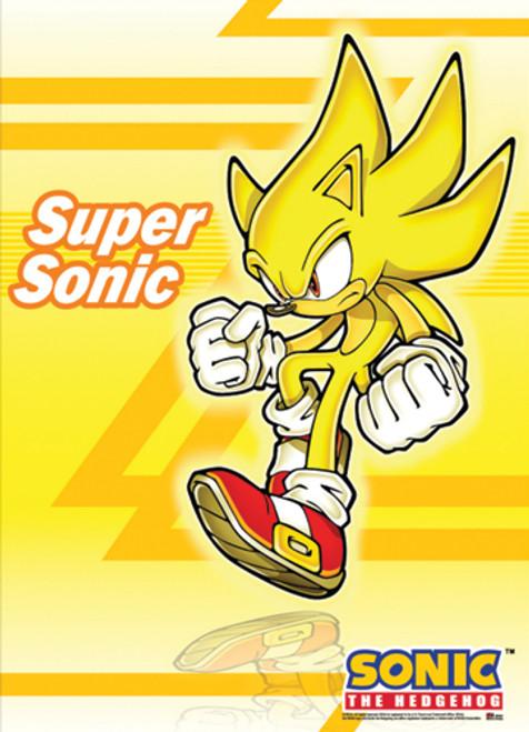 Sonic The Hedgehog Super Sonic Posing Wall Scroll
