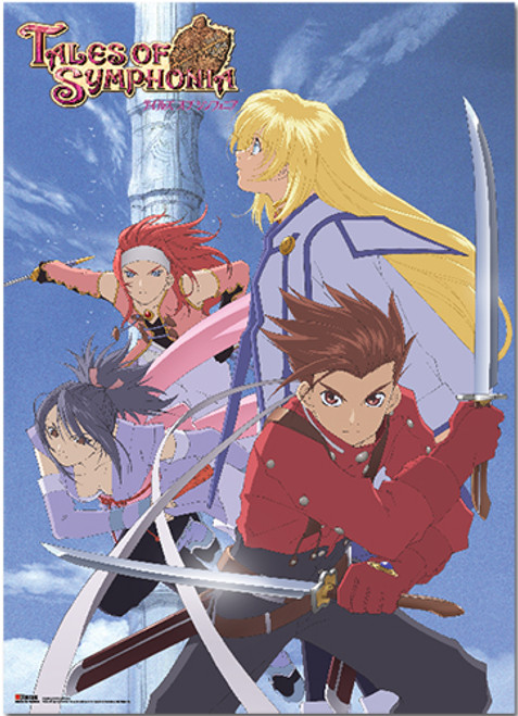 Tales of Symphonia Group Wall Scroll