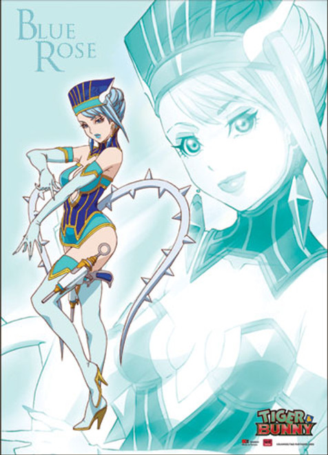 Tiger and Bunny Blue Rose Posing Wall Scroll