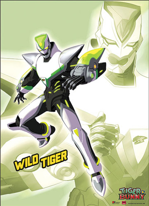Tiger and Bunny Wild Tiger Posing Wall Scroll