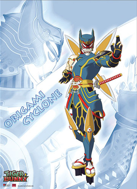 Tiger and Bunny Origami Cyclone Posing Wall Scroll
