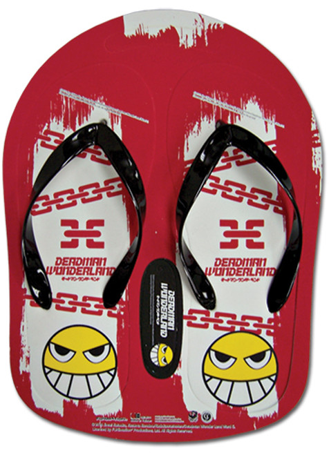 Deadman Wonderland - Red Smile Face with Chains Sandals