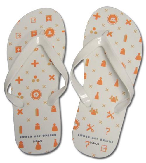 Sword Art Online White and Orange Menu Icons Sandals