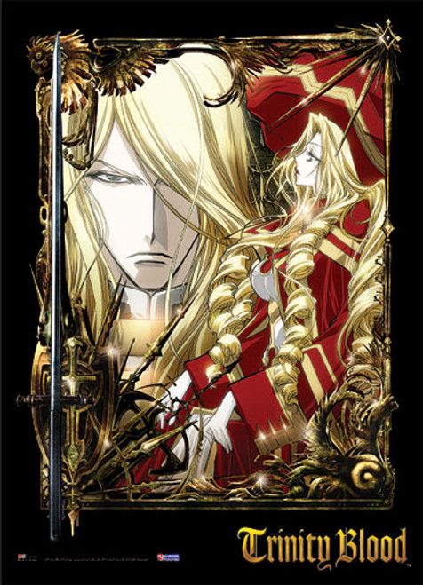 Trinity Blood Caterina, and Hugue Wall Scroll