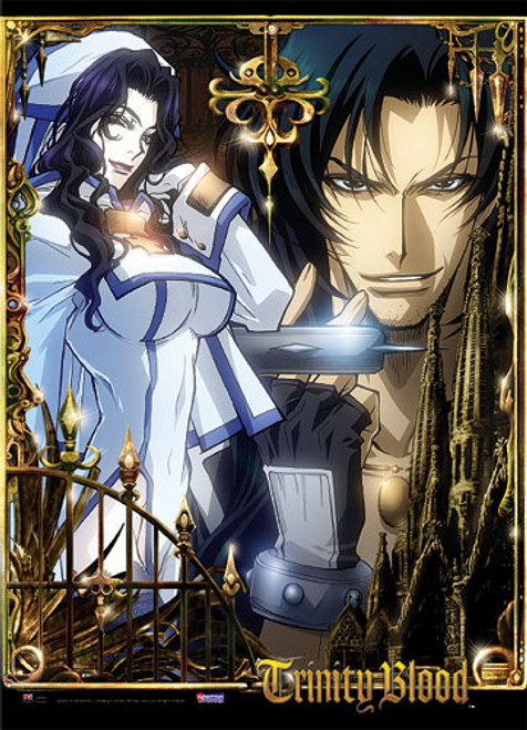 Trinity Blood Noelle, and Leon Posing Wall Scroll