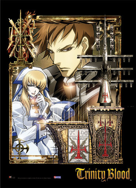Trinity Blood Tres, and Caterina Wall Scroll