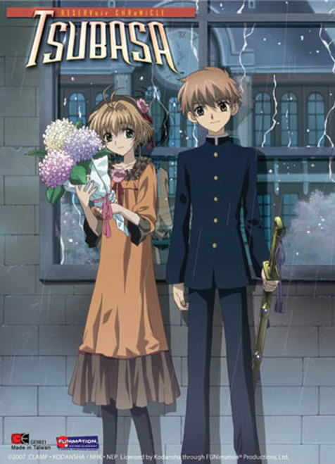 Tsubasa Sakura, and Syaoran In The Rain Wall Scroll