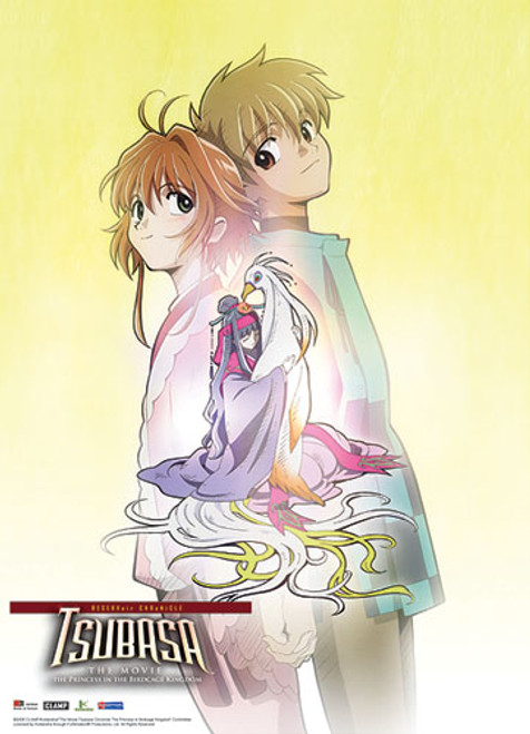 Tsubasa Movie Syaoran, Sakura, and Tomoyo Wall Scroll