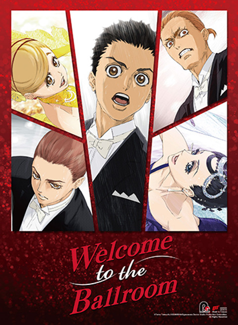 Welcome To The Ballroom Tatara, Hanaoka, Kiyoharu, Gaju, and Mako Wall Scroll