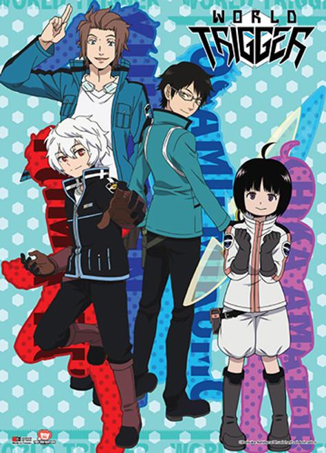 World Trigger Yuma, Osamu, Jin, and Chika Wall Scroll