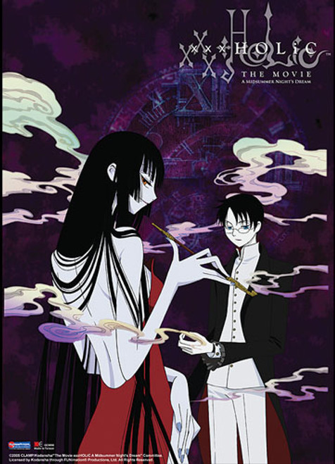 XxxHolic Movie Yuko, and Watanuki With Smoke In The Background Wall Scroll
