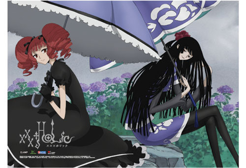 XxxHolic Yuko, and Ame Wall Scroll