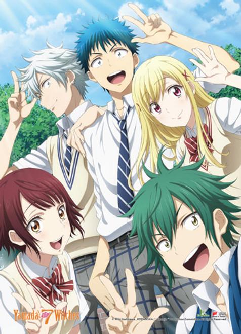 Yamada-Kun and The Seven Witches Yamada, Urara, Miyabi, Miyamura, Kentaro Wall Scroll