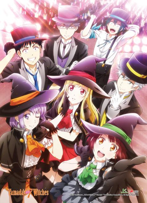 Yamada-Kun and The Seven Witches Yamada, Urara, Miyabi, Miyamura, Kentaro, Ushio, and Nene Wall Scroll
