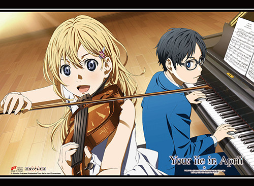 Your Lie In April Kaori, and Kousei Wall Scroll