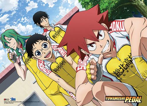 Yowamushi Pedal Go!! Onoda, Shunsuke, Naruko, and Yusuke Wall Scroll