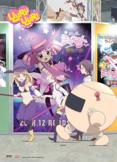 YuruYuri Akari, Kyoko, Yui, and Chinatsu Cosplaying Wall Scroll