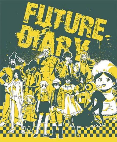 Future Diary Group Throw Blanket