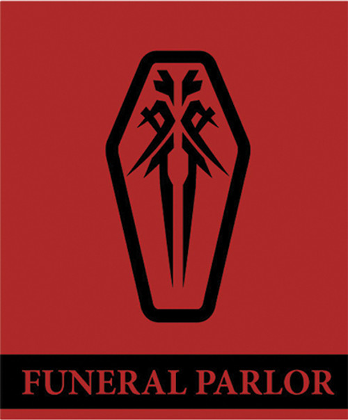 Guilty Crown Funeral Parlor Emblem Throw Blanket