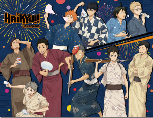 Haikyuu!! Group At A Festival Throw Blanket