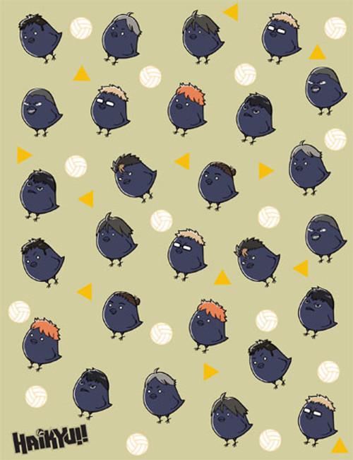 Haikyuu!! Group Turned Into Chibi Ravens Throw Blanket