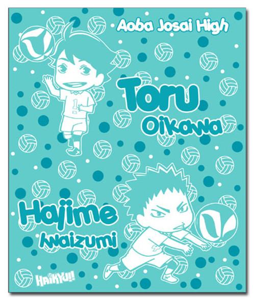 Haikyuu!! Chibi Toru, and Hajime Throw Blanket