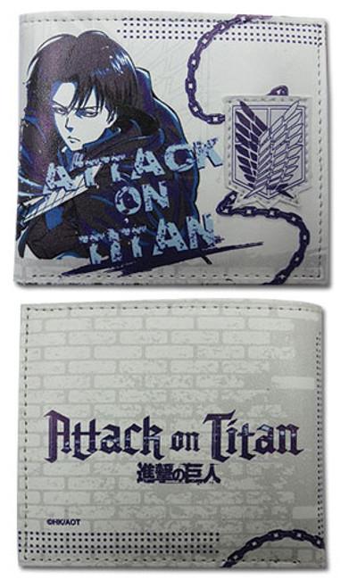 Attack on Titan - Levi White Bi-fold Wallet