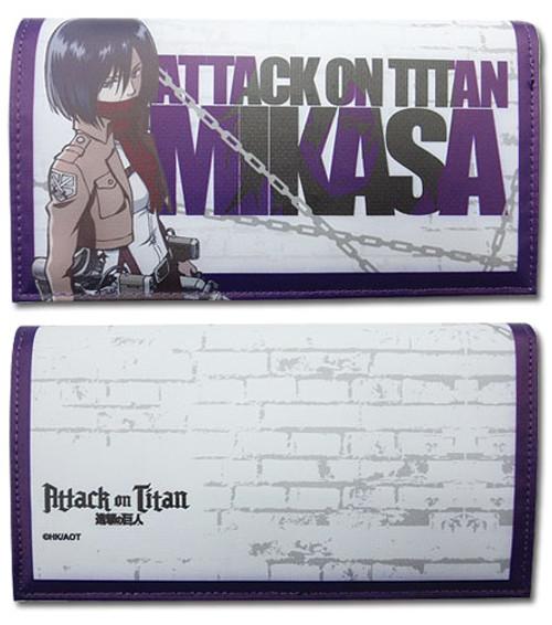 Attack on Titan - Mikasa Purple Snap Wallet
