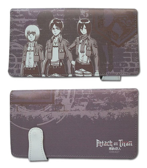 Attack on Titan - Eren, Mikasa, and Armin Snap Wallet