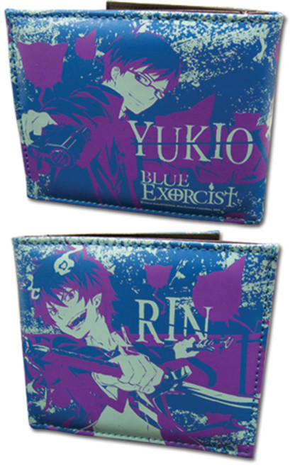 Blue Exorcist Rin, and Yukio Bi-fold Wallet
