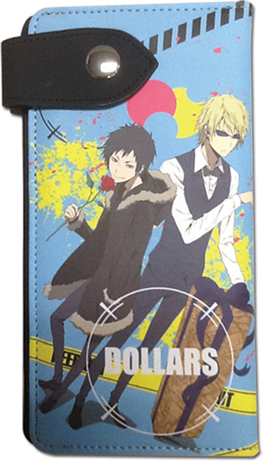 Durarara!! Shizuo, and Izaya Dollars Embelm Snap Wallet
